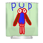 Pup Shower Curtain