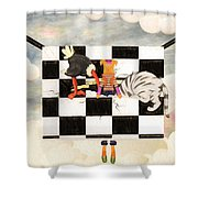 Puppet Doggy In Trouble Again Shower Curtain