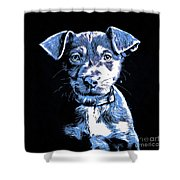Puppy Dog Graphic Novel Drawing Shower Curtain