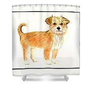 Puppy Dog   Shower Curtain