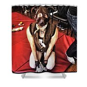 Puppy Play. Human Canine Training Shower Curtain