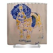 Puppy Stare Shower Curtain
