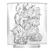 Puppy_printfilecopy Shower Curtain