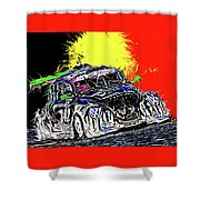 Pure Fun - 25 Hrs. Of Spa-francorchamps Shower Curtain
