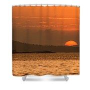 Pure Golden Sunset Shower Curtain