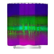 Pure Green Shower Curtain