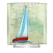 Pure Michigan Boating Shower Curtain