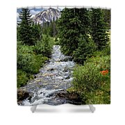 Pure Rocky Mtn. Spring Water Shower Curtain