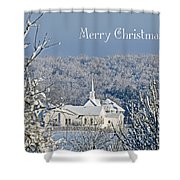 Pure White Christmas Shower Curtain