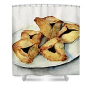 Purim Cookies Shower Curtain by Annemeet Hasidi- van der Leij