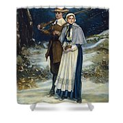 Puritans Going To Church Shower Curtain