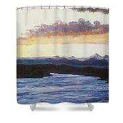 Purpellow Landscape Shower Curtain