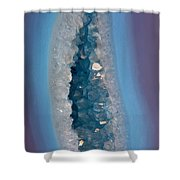 Purple And Blue Agate With Druzy Shower Curtain