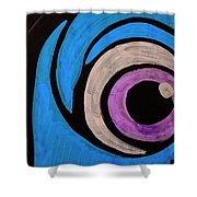 Purple And Blue Eyeball In Saint Augustine Florida Shower Curtain