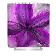 Purple And Gray Art Shower Curtain