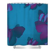 Purple And Turquoise Butterflies Shower Curtain