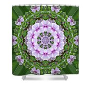 Purple And White Flowers  Shower Curtain