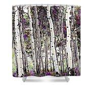 Purple Aspens Shower Curtain