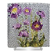 Purple Asters II  Shower Curtain