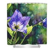 Purple Bell Flower Shower Curtain