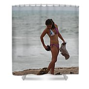 Purple Bikini Shower Curtain
