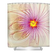 Purple Blossom Shower Curtain