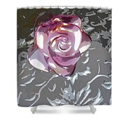 Purple Blossom Shower Curtain