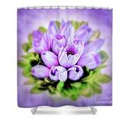 Purple Bouquet Shower Curtain