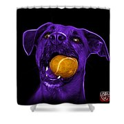 Purple Boxer Mix Dog Art - 8173 - Bb Shower Curtain