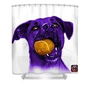 Purple Boxer Mix Dog Art - 8173 - Wb Shower Curtain