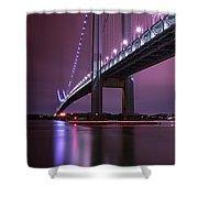 Purple Bridge Shower Curtain