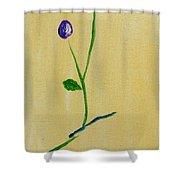 Purple Buds Shower Curtain
