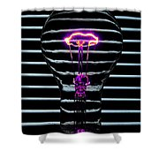 Purple Bulb Shower Curtain