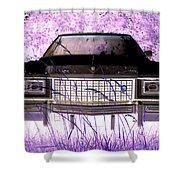 Purple Cadillac Shower Curtain