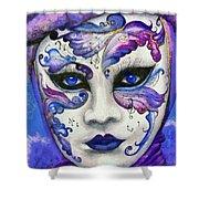 Purple Carnival Shower Curtain