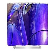 Purple Chevrolet Shower Curtain