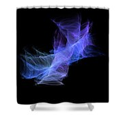 Purple Cloud Shower Curtain