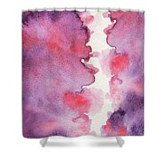 Purple Clouds Abstract Watercolor Shower Curtain