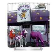 Purple Cow 1 Shower Curtain