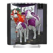 Purple Cow 2 Shower Curtain