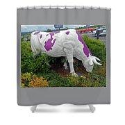 Purple Cow 4 Shower Curtain