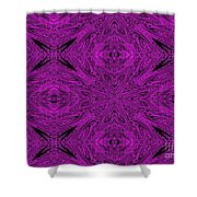 Purple Crossed Arrows Abstract Shower Curtain