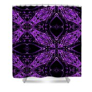 Purple Crosses Connecting Shower Curtain