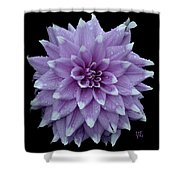 Purple Dahlia Cutout Shower Curtain