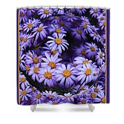 Purple Daisy Abstract Shower Curtain