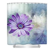 Purple Daisy Swirl Shower Curtain