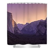 Purple Dawn At Yosemite Tunnel View Shower Curtain by Priya Ghose