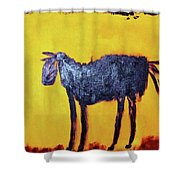 Purple Desert Donkey Shower Curtain
