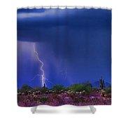 Purple Desert Storm Shower Curtain