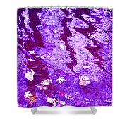 Purple Disturbances Shower Curtain